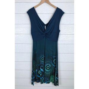 DESIGUAL Elko Sleeveless Dress Knotted V-Neck